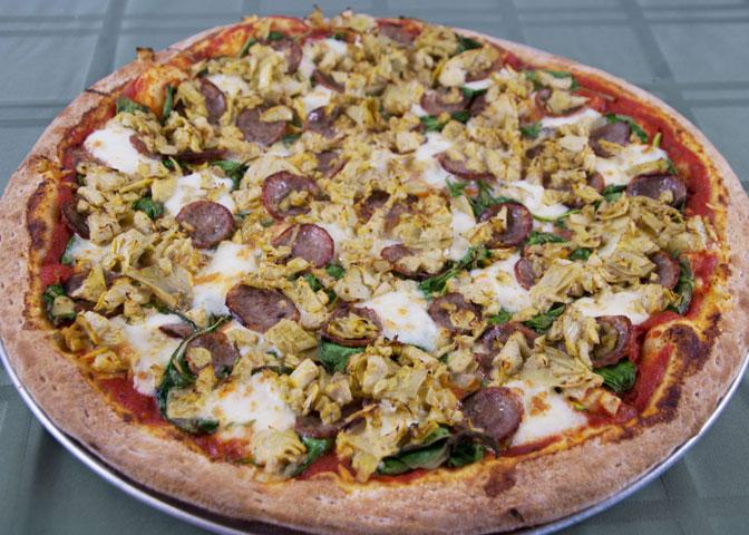 Sausage & Artichoke Pizza